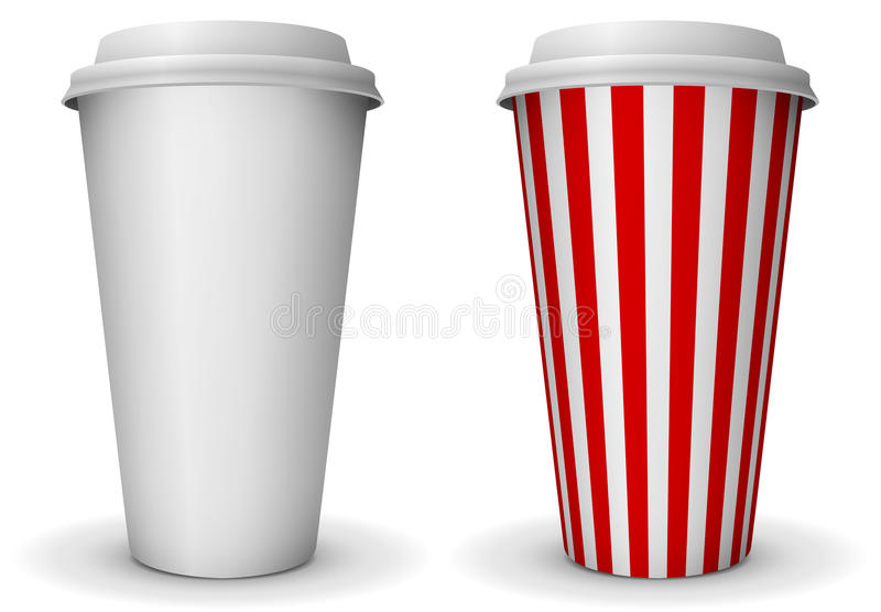 Take-away paper cup stock illustration