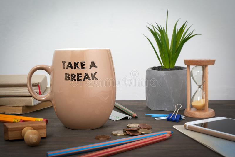 Take a break. Business and a success background royalty free stock photography