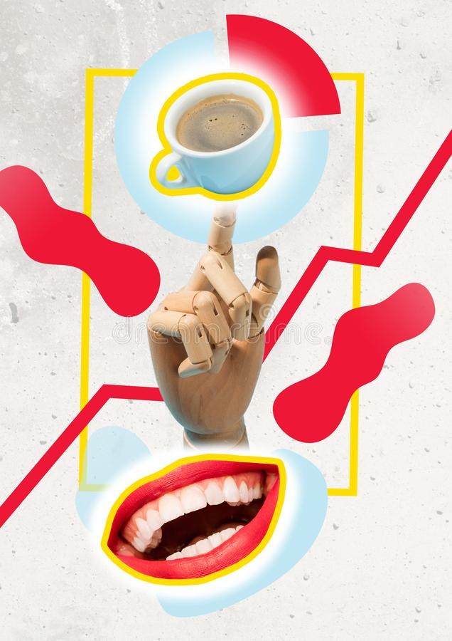 TAKE A BREAK Coffee Cup Concept stock image