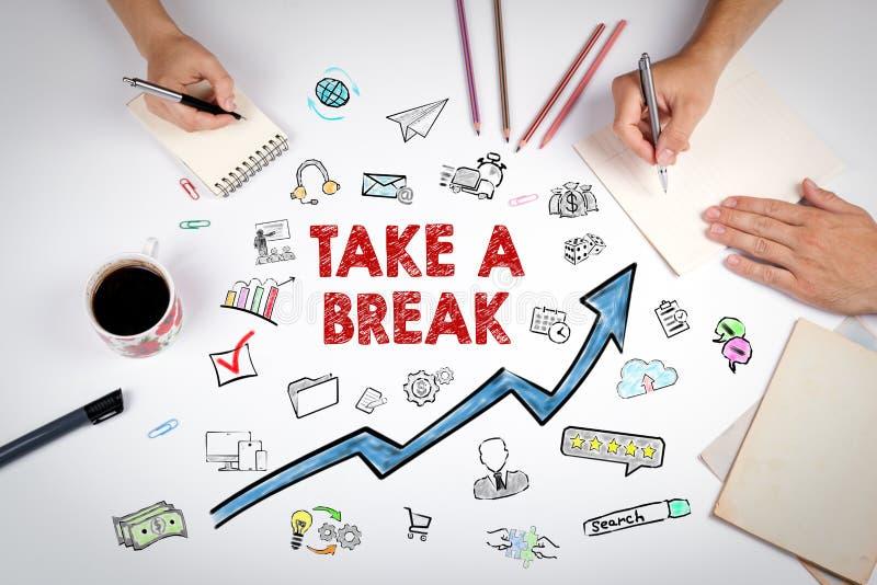 Take a Break Concept with icons stock photos