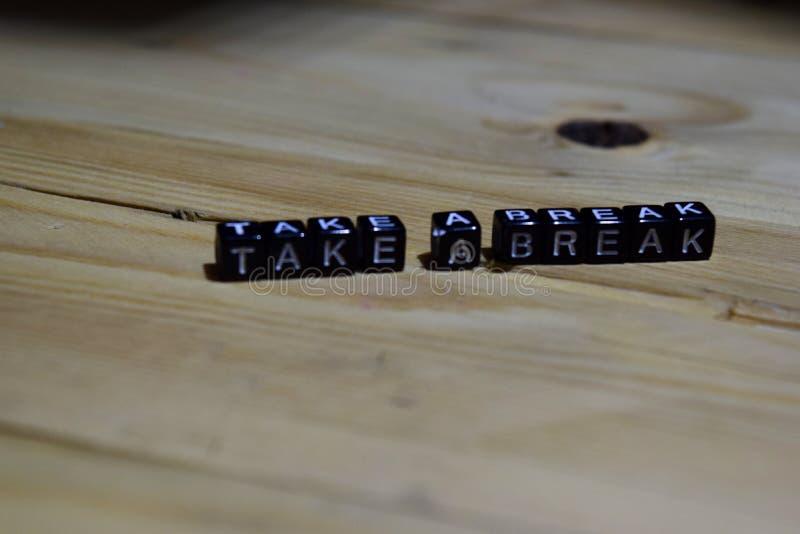 Take a break message written on wooden blocks. royalty free stock photography