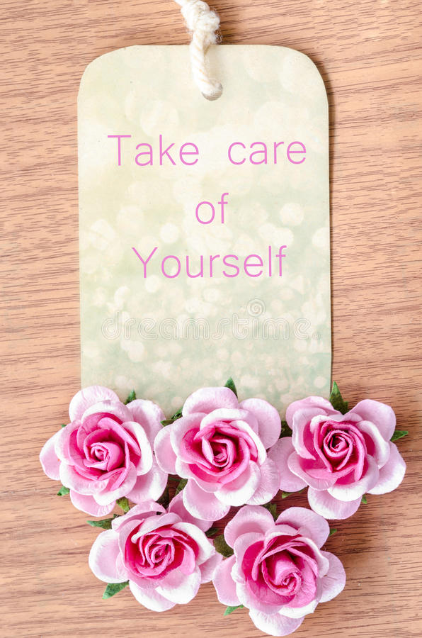 Take care of your self. royalty free stock photos