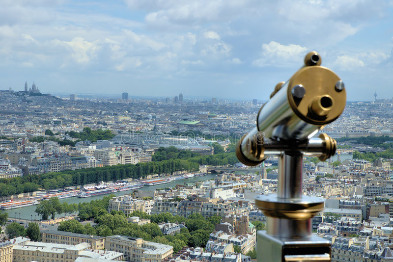 Take a closer look over Paris stock images