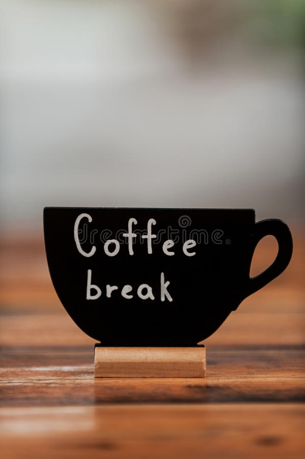 Take a coffee break! royalty free stock photography