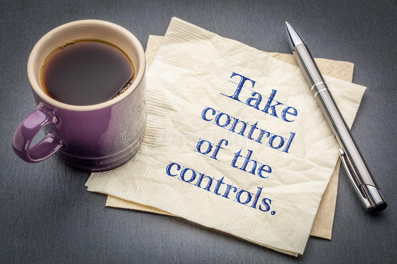 Take control of the controls stock image