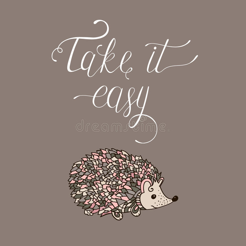 Take it easy. stock illustration
