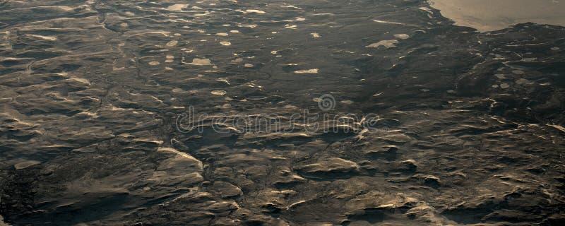 15Take een satellietbeeld van het ijs en de zonsopgang over de bering Straat ï ¼ ˆ1ï ¼ ‰ royalty-vrije stock afbeeldingen