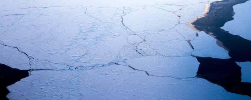 21Take een satellietbeeld van het ijs en de zonsopgang over de bering Straat ï ¼ ˆ1ï ¼ ‰ stock fotografie