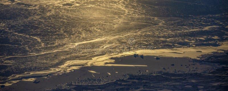 23Take een satellietbeeld van het ijs en de zonsopgang over de bering Straat ï ¼ ˆ1ï ¼ ‰ royalty-vrije stock foto's