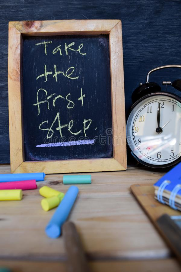 Take the first step. Back to school concept royalty free stock photography