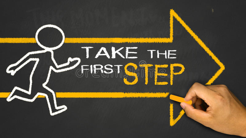 take the first step stock photography