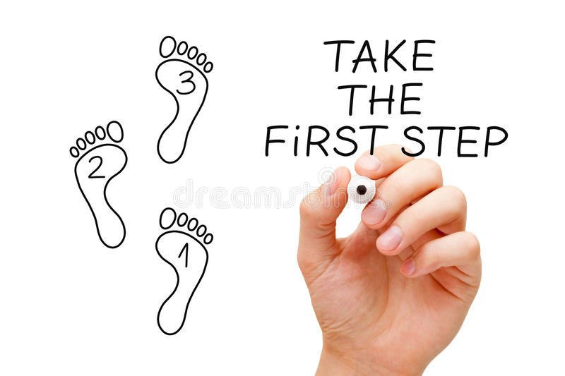 Take The First Step Footprint Concept royalty free stock photo