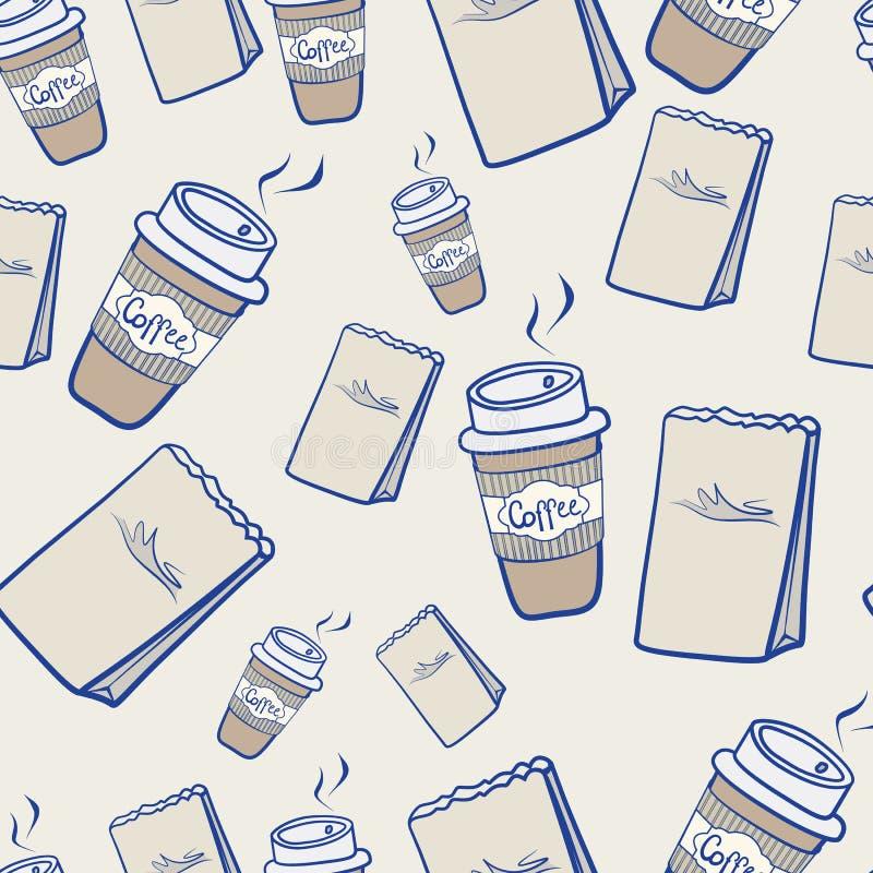 Take-$l*away πακέτα καφέ και εγγράφου διανυσματική απεικόνιση