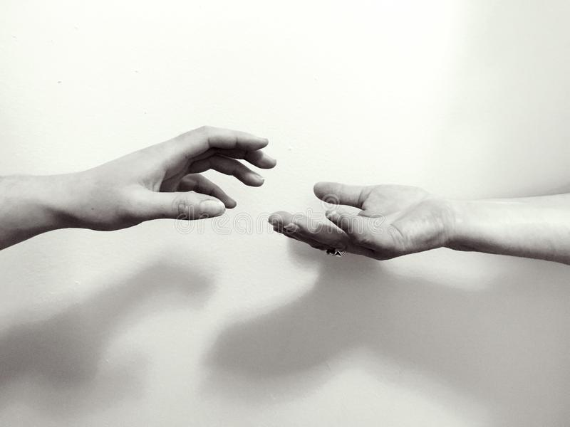 Take my hand royalty free stock photography