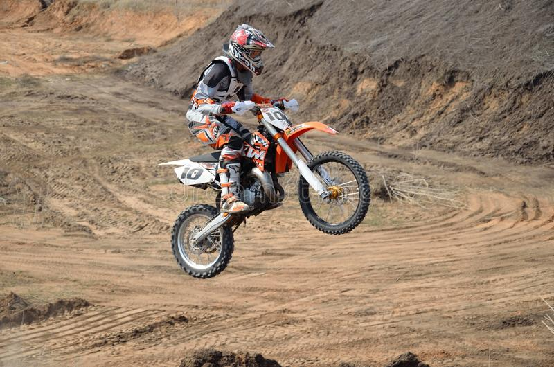 Download Take Off On Big Hill On A Motorbike Motocross Editorial Stock Photo - Image of racing, action: 20191613