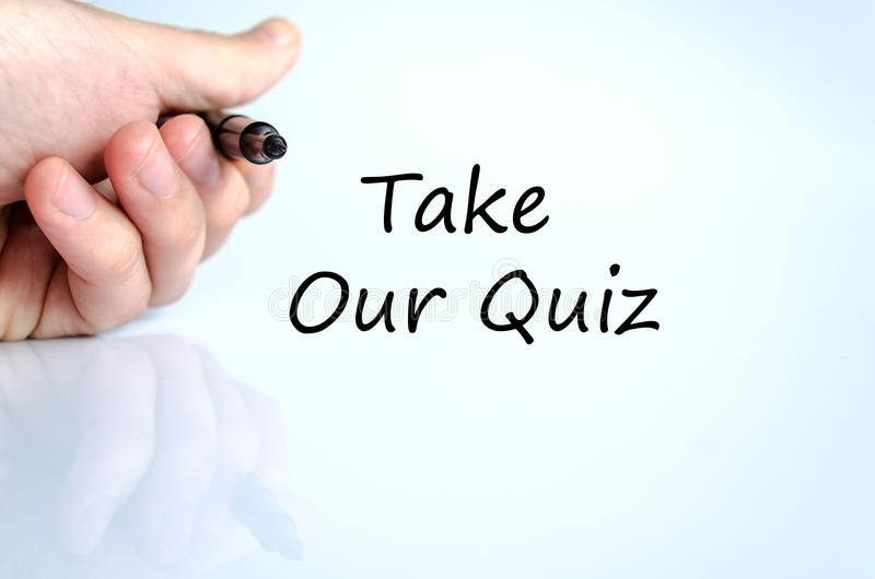 Take our quiz text concept royalty free stock images