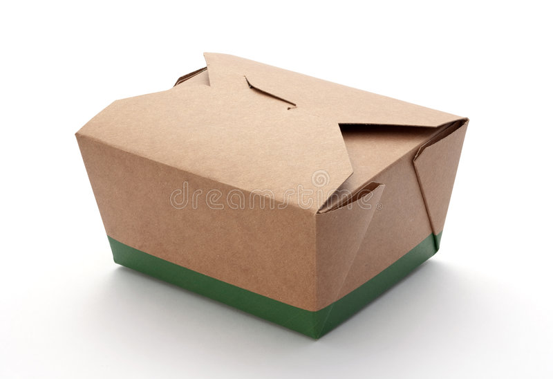 Take-Out Box. Isolated on a white background. Isolation is on a transparent layer in the PNG format royalty free stock photos
