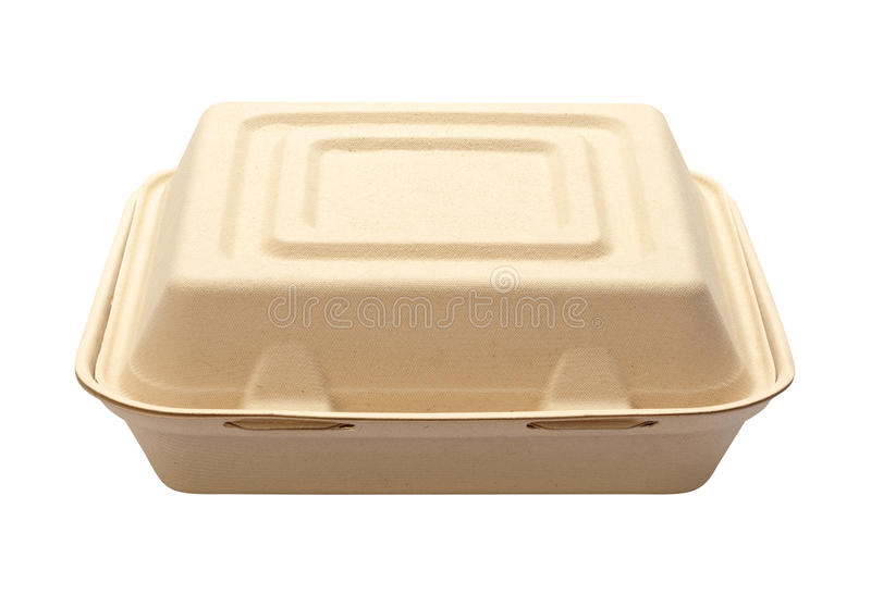 Take Out Box Isolated On White Royalty Free Stock Images