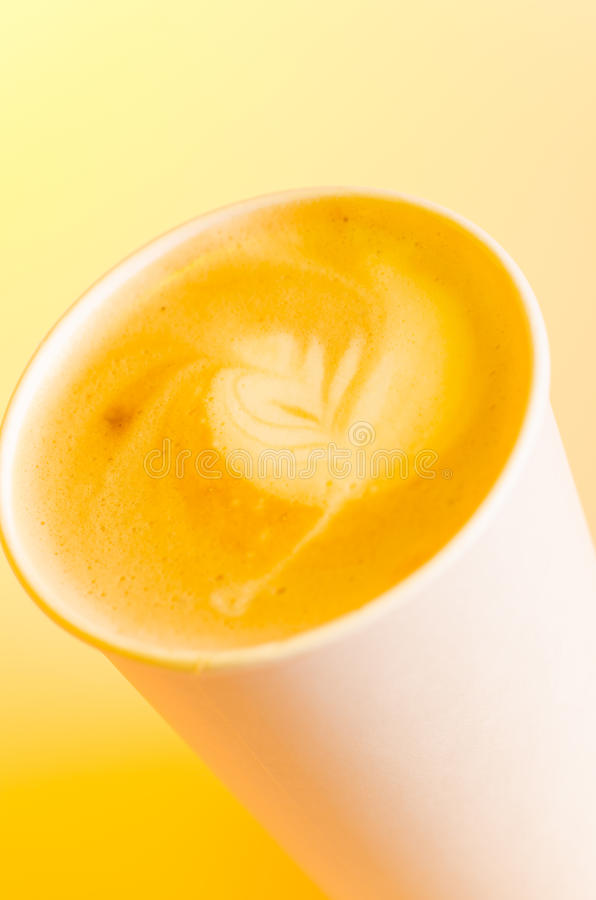 Download Take-out cappuccino stock image. Image of use, latté - 28033329