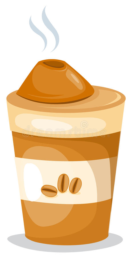 Download Take-out coffee cup stock vector. Image of cake, cardboard - 13274582