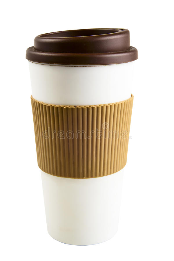 Take-out coffee with cup holder royalty free stock photo
