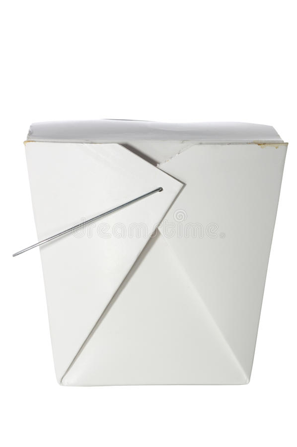 Download Take Out Container On White With Clipping Path Stock Image - Image: 12195465