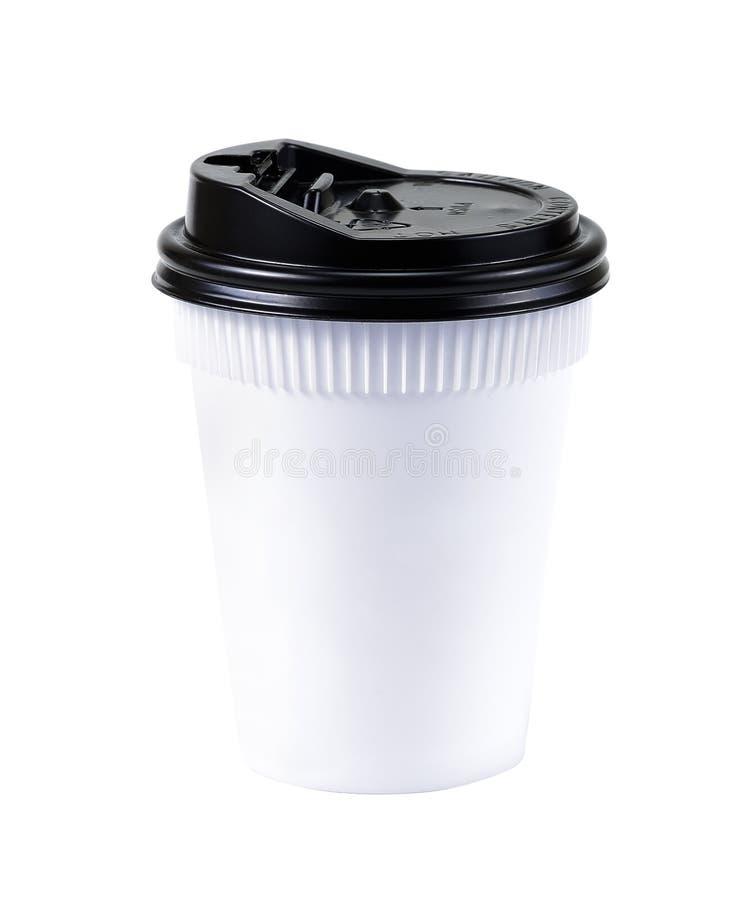 Take-out Kaffee im Thermo Cup Getrennt auf einem Weiß Weiße Schale von lizenzfreie stockfotografie