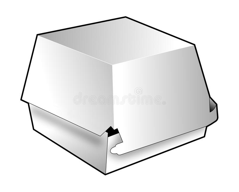 Download Take-out Takeaway Carton Box Stock Illustration - Illustration of take, line: 19305576