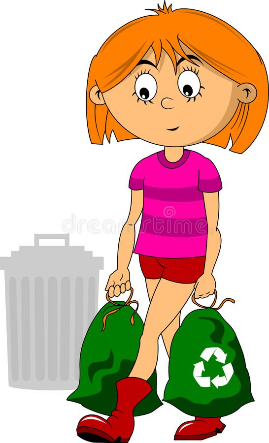 Take out the trash royalty free illustration