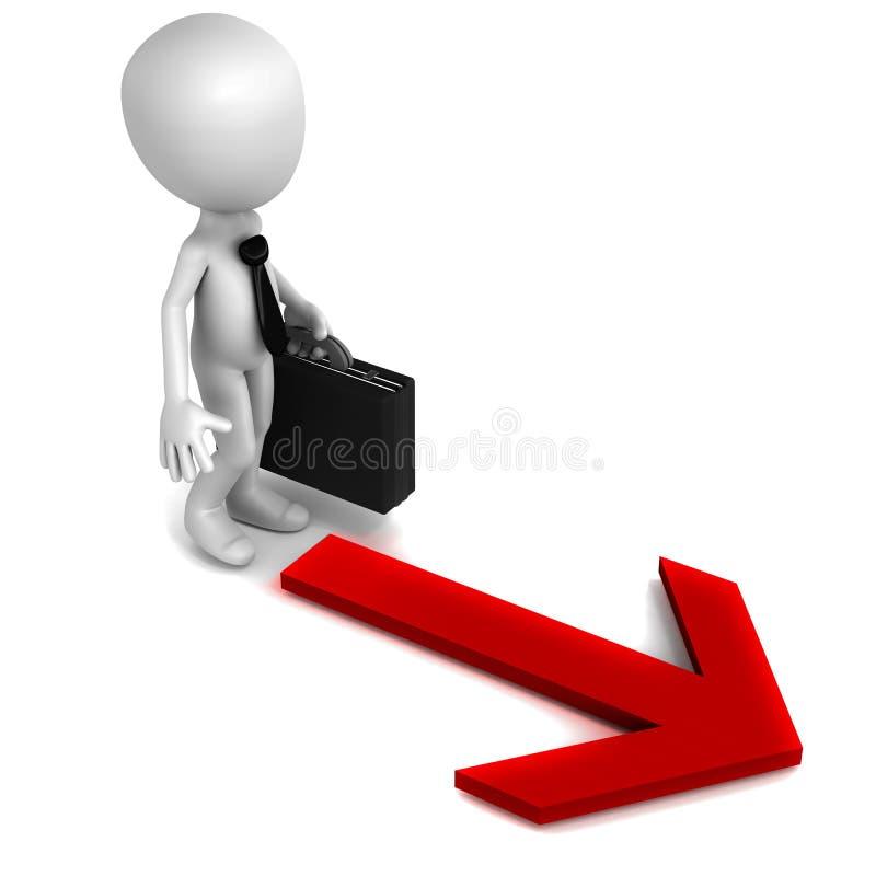 Take path direction stock illustration