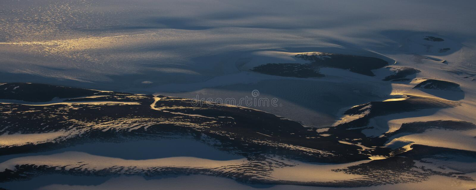 Take a picture of the ice on the bering strait(4). The bering strait is located in the high latitudes, cold weather, many storms and fog, especially stock photography