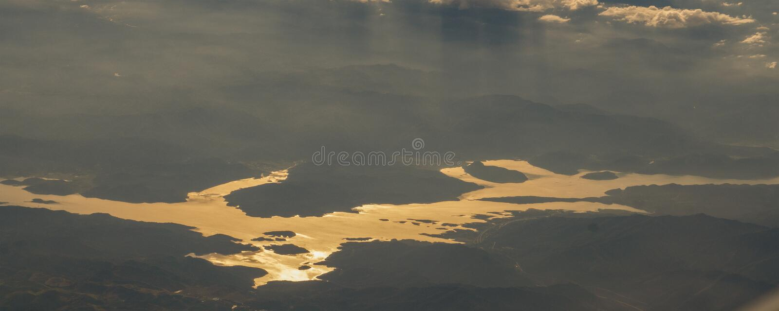 Take a picture of the ice on the bering strait(18). The bering strait is located in the high latitudes, cold weather, many storms and fog, especially royalty free stock photo