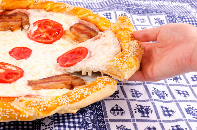 Download Take the pizza stock image. Image of sausage, decadent - 26602879