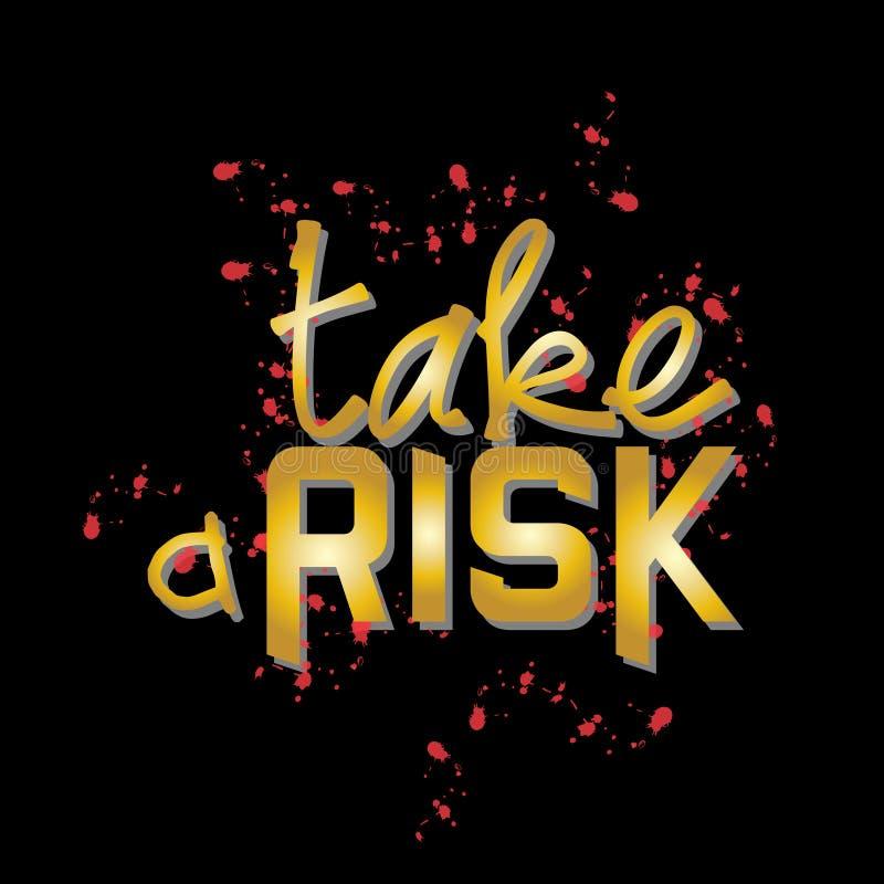 Take a risk stock illustration
