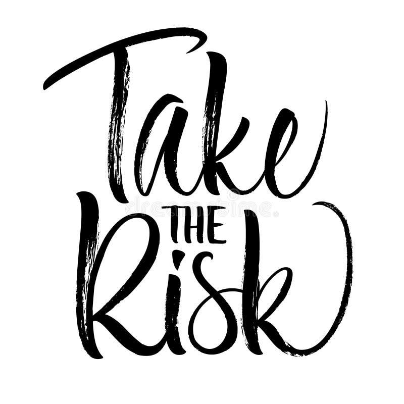 Take the Risk Lettering royalty free illustration