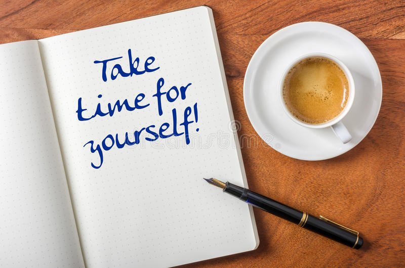 Take time for yourself stock photos