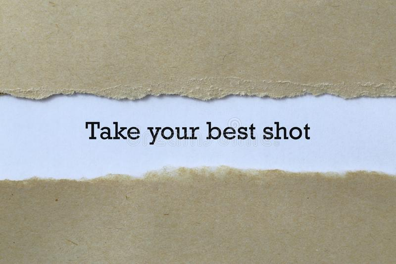 Take your best shot on paper stock photos