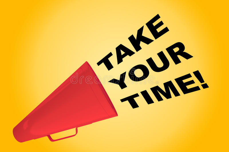 Take your Time! concept stock illustration