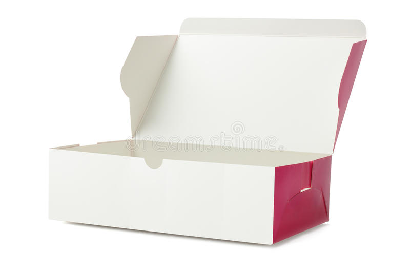 Takeaway Cake Box. On White Background stock images