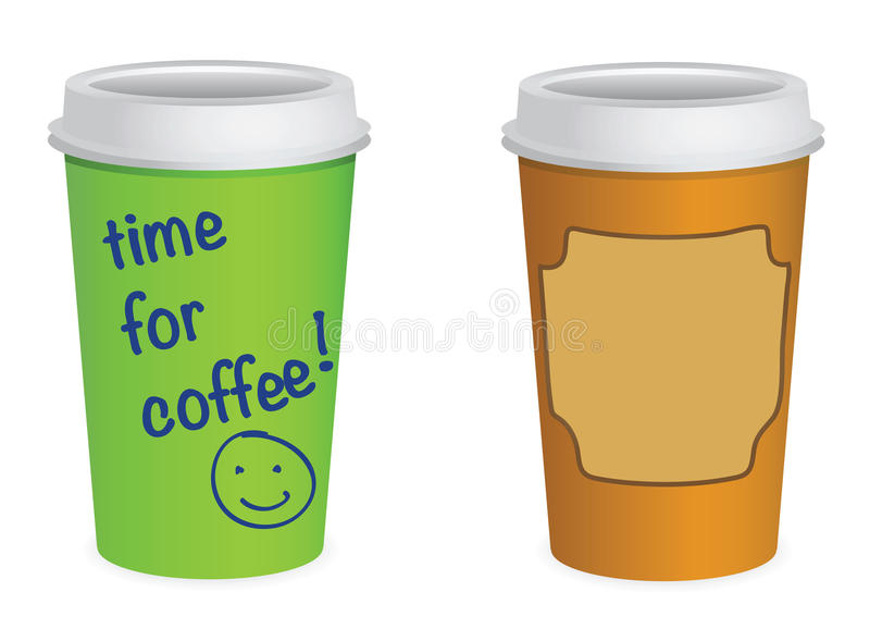Takeaway coffe cups stock illustration