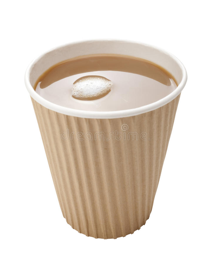 Download Takeaway Coffee Disposable Cup Milk Stock Photography - Image: 25087112