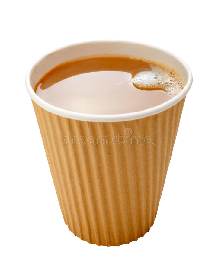 Takeaway Coffee Disposable Cup Milk stock photo
