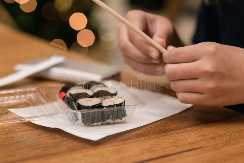Takeaway dei sushi fotografie stock