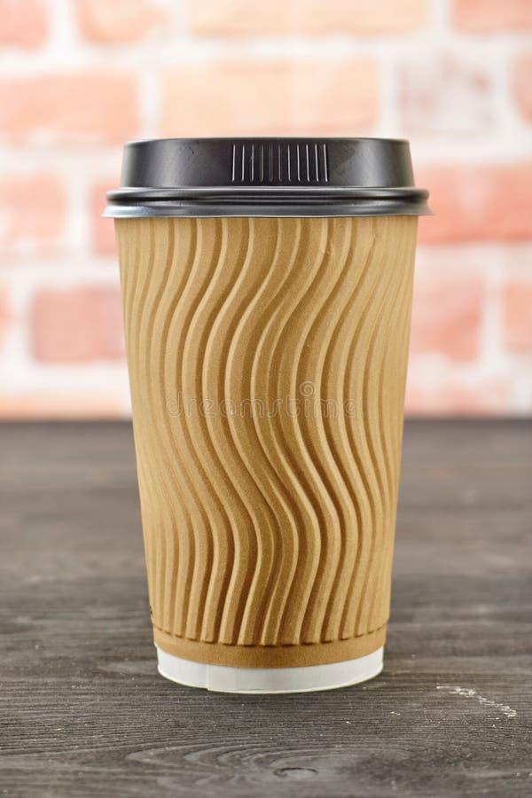 Takeaway kaffekopp arkivfoto