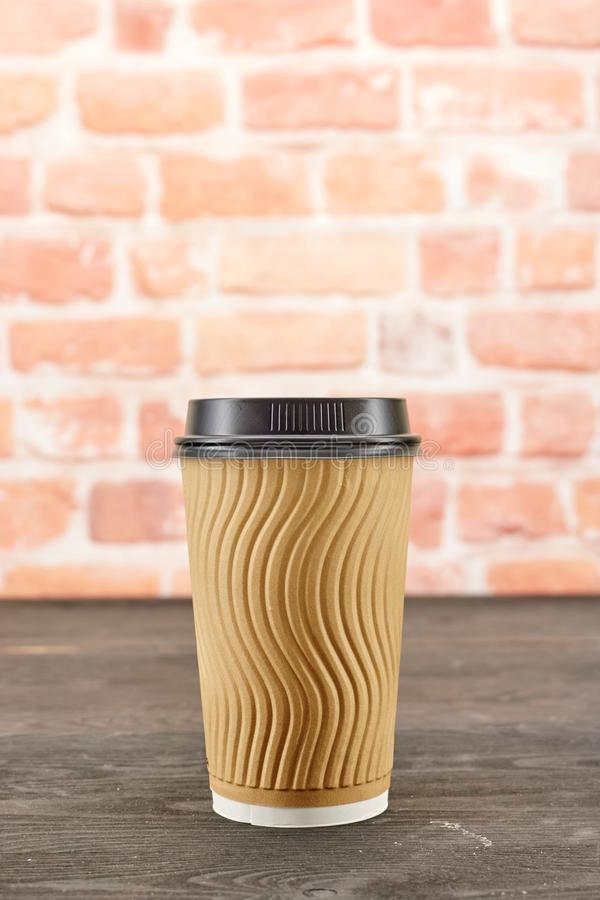 Takeaway kaffekopp arkivbilder