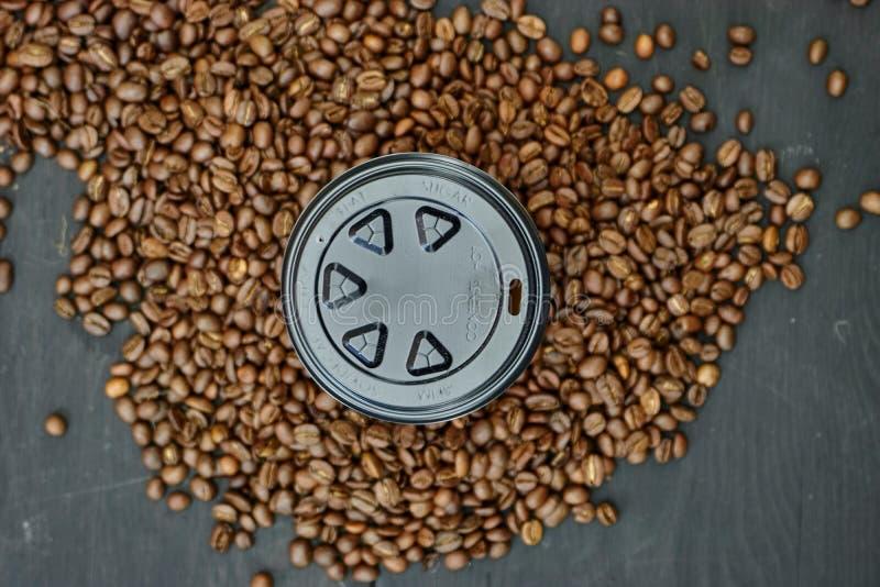 Takeaway kaffekopp arkivfoton