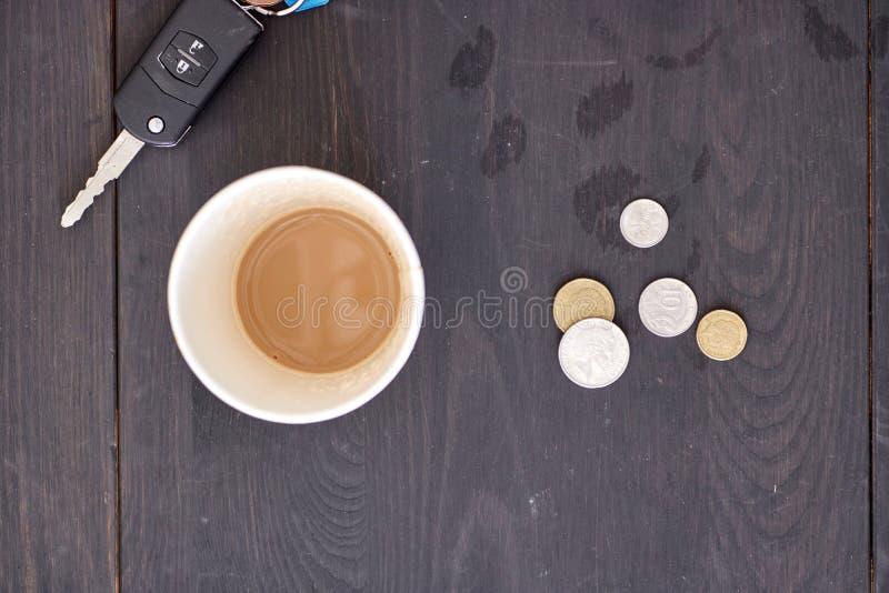Takeaway kaffekopp royaltyfria bilder