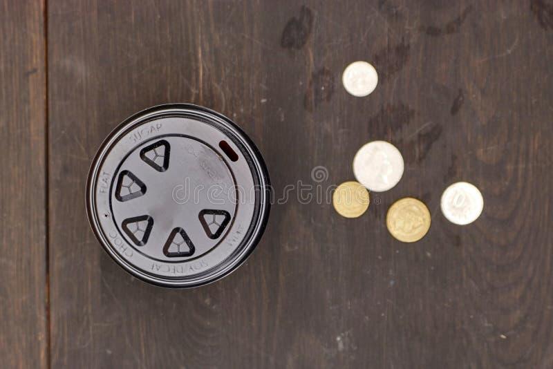 Takeaway kaffekopp fotografering för bildbyråer