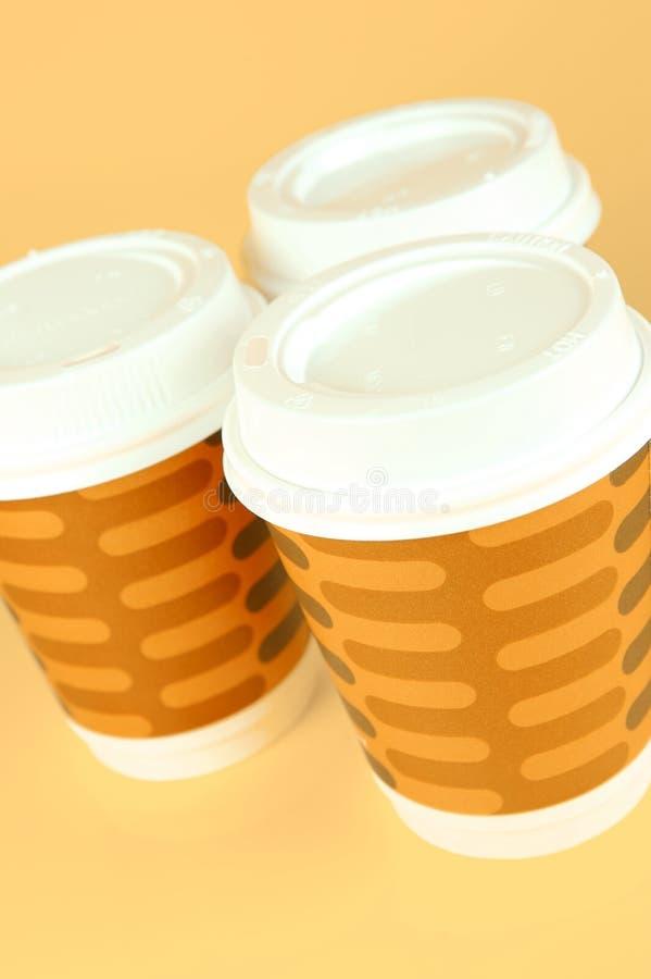 takeaway kaffekoppar arkivfoton
