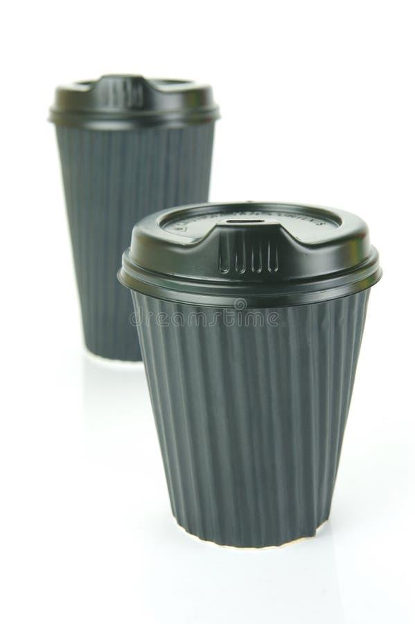 takeaway kaffekoppar royaltyfria bilder